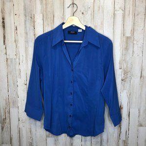 🎉3/$10 Allison Morgan large blue button up top
